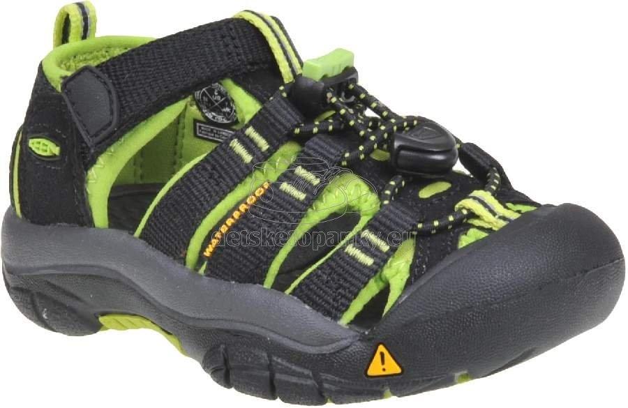 Detské sandále Keen NEWPORT H2 black/lime green