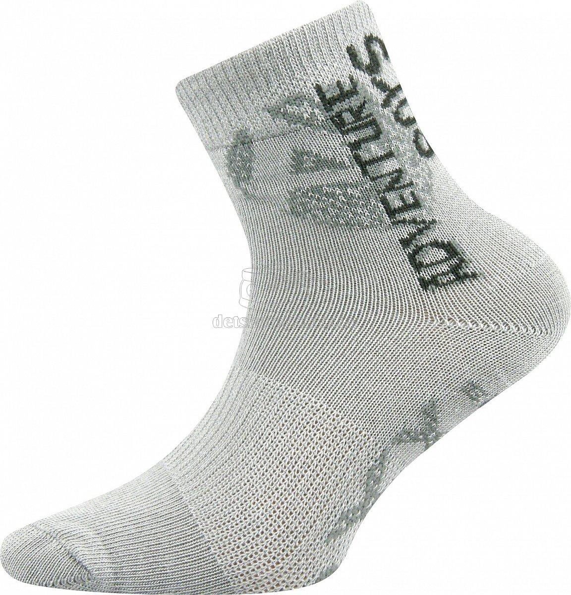 Detské ponožky VoXX Adventurik svetlo šedá