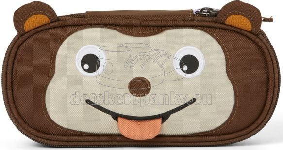Dětský penál Affenzahn Pencil Case Monkey - brown