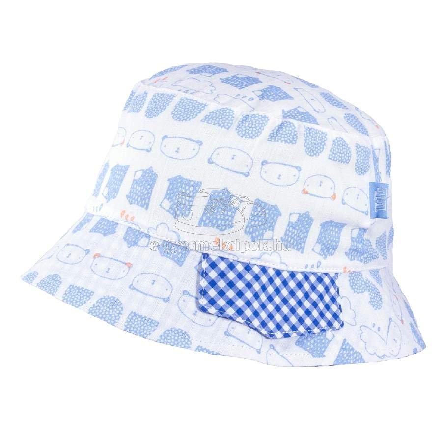 Gyerek siltes sapka TUTU 3-004507 lt.blue/blue