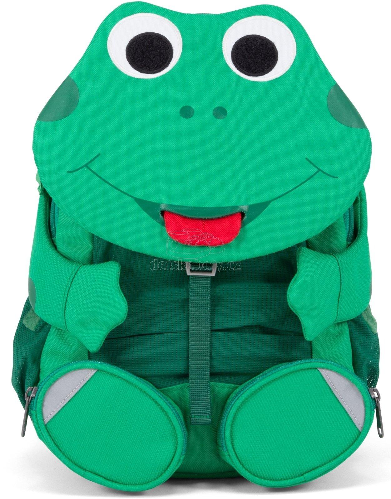 Detský batoh do škôlky Affenzahn Fabian Frog large - green