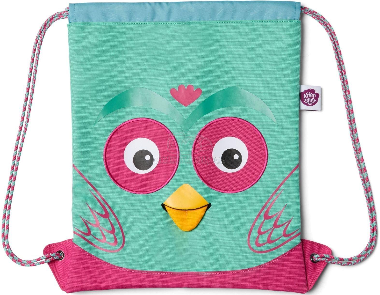 Dětský batůžek Affenzahn Kids Sportsbag Owl - turquoise