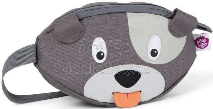 Dětská ledvinka Affenzahn Hip-Bag - Dog David - grey