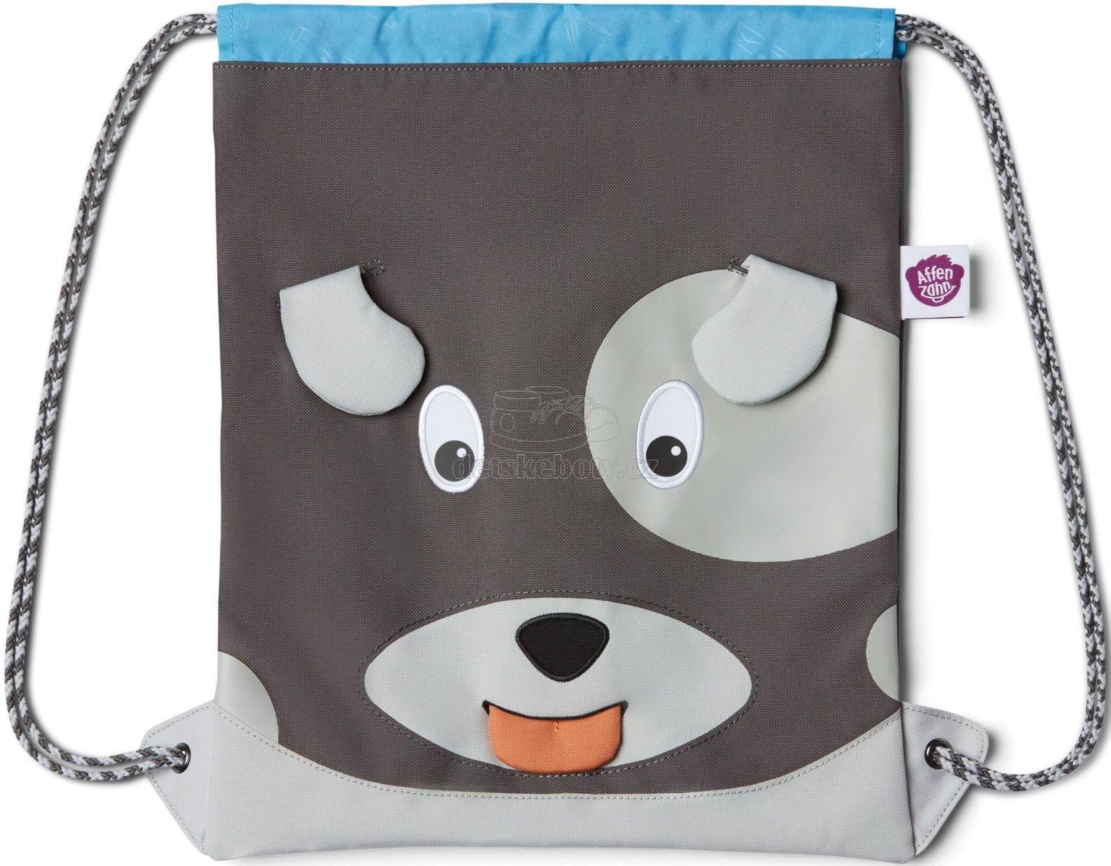 Gyerek hátizsák Affenzahn Kids Sportsbag Dog - grey