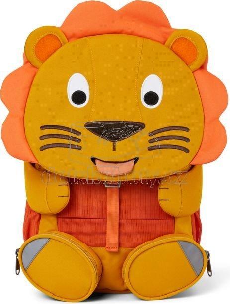 Dětský batoh do školky Affenzahn Large Friend Lion - yellow