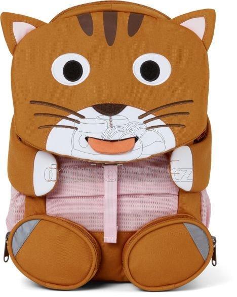 Gyerek táska iskolába Affenzahn Large Friend Cat - brown