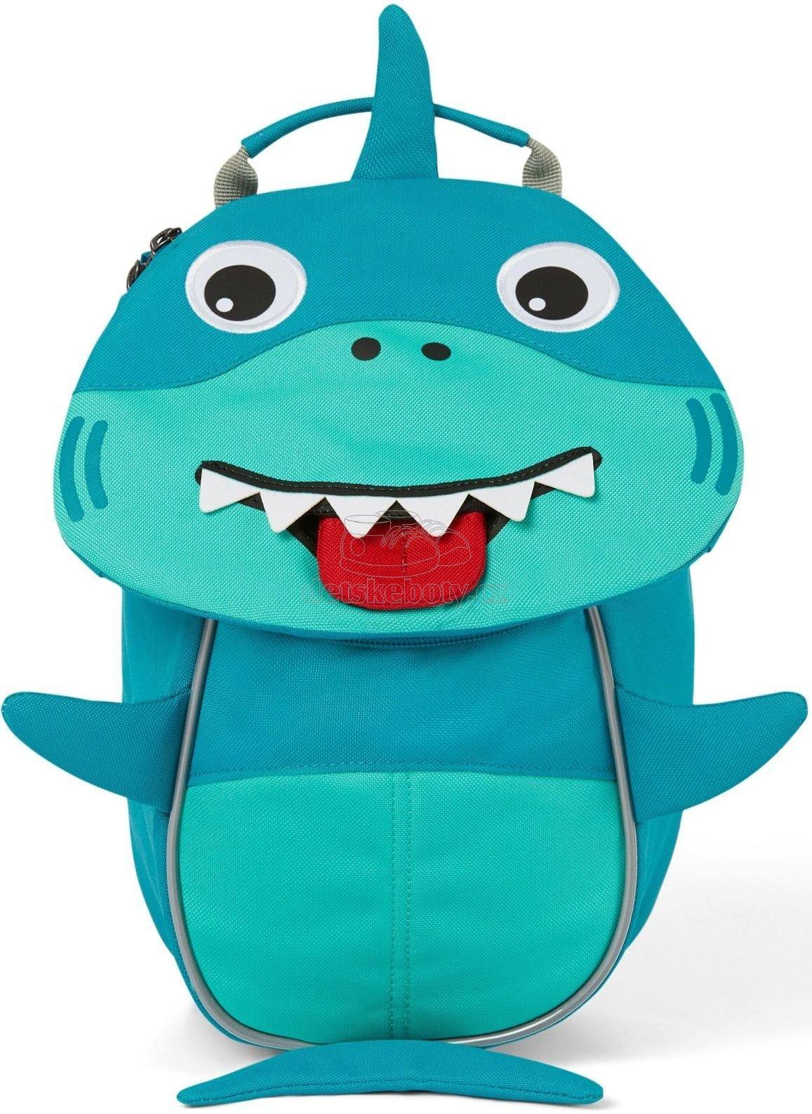 Hátizsák a legkisebbeknek Affenzahn Small Friend Shark - turquoise