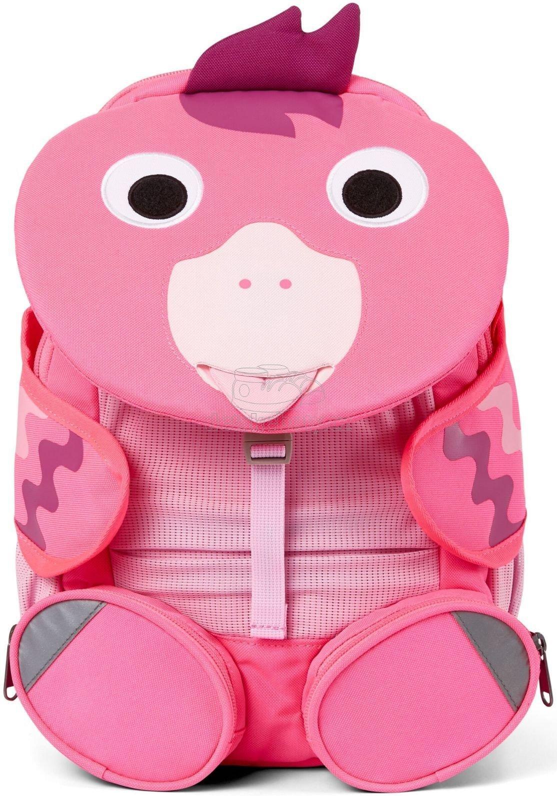 Gyerek táska iskolába Affenzahn Large Friend Flamingo - neon pink
