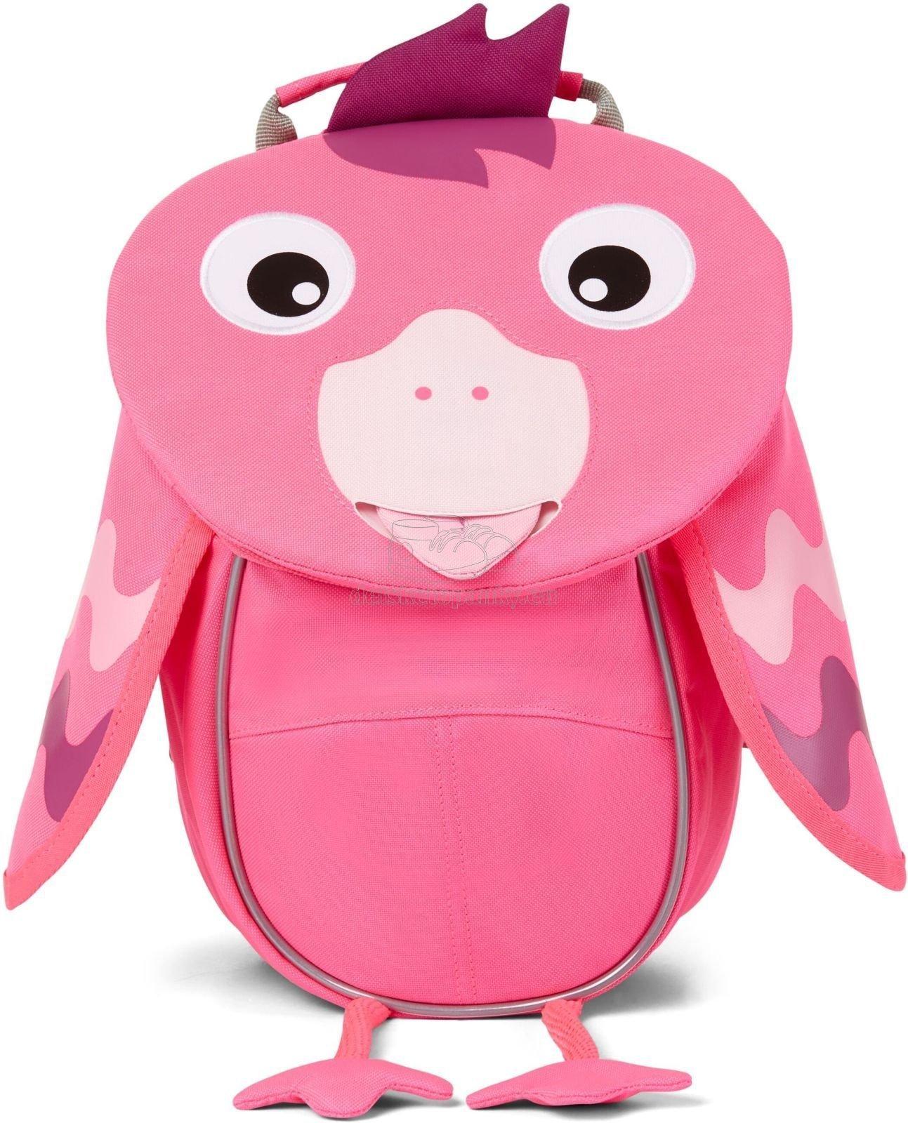 Batôžtek pre najmenších Affenzahn Small Friend Flamingo - neon pink