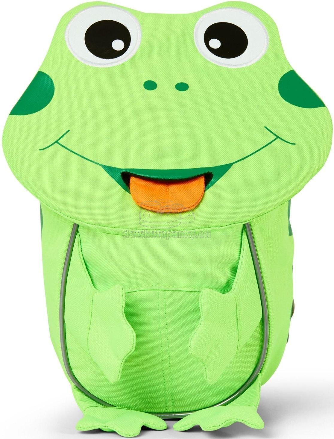 Batôžtek pre najmenších Affenzahn Small Friend Frog - neon green