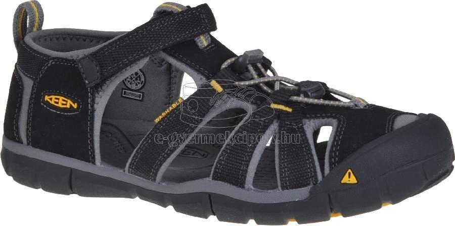 Gyerek szandál Keen SEACAMP II CNX  black/yellow