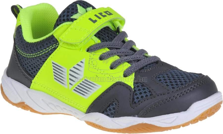 Gyerek tornacipő LICO 360723 anthrazit/lemon