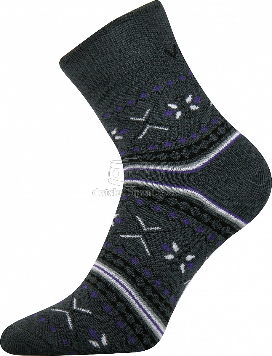 Detské ponožky VoXX Ingvild tmavo šedá