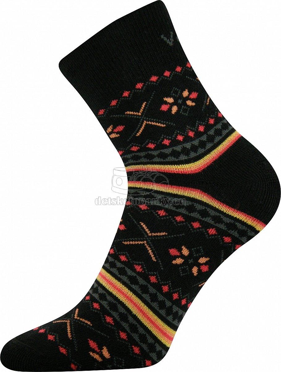 Detské ponožky VoXX Ingvild čierna