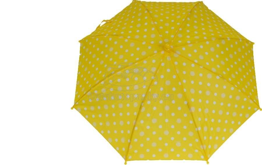 Dáždnik Dopller 72680D žlté bodky