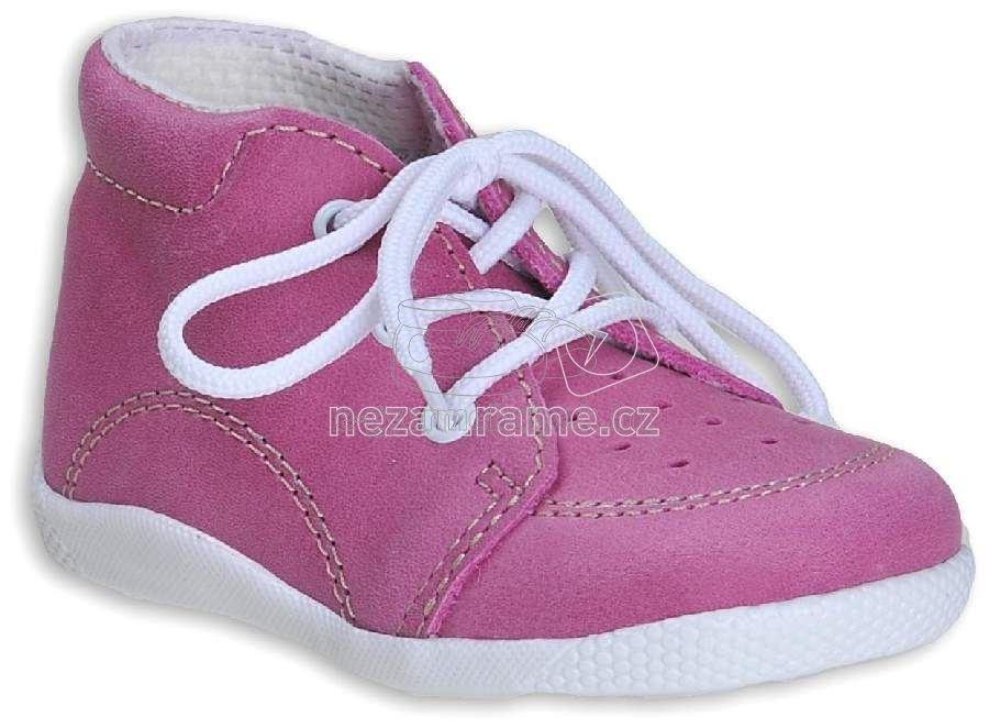 Babacipő BOOTS4U T014 rózsaszín