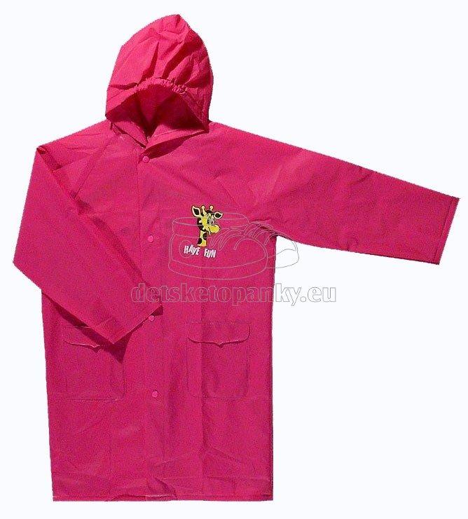Detská pláštenka Viola 5502 ružová