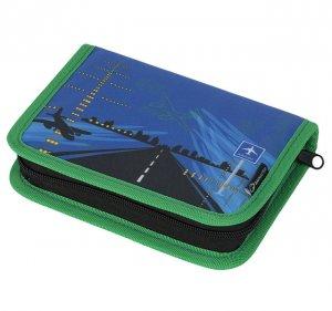 Klučičí penál do školy letadla Bagmaster CASE GALAXY 6 C BLUE/GREEN