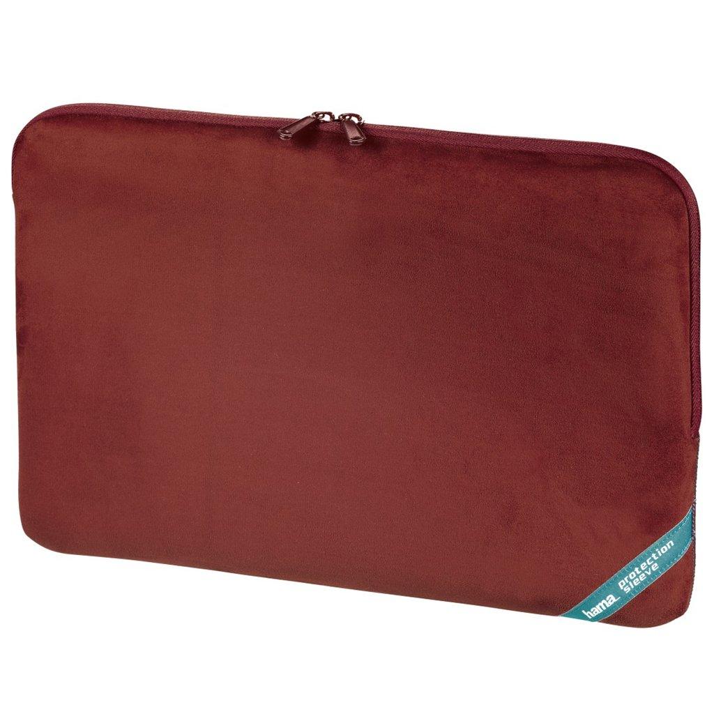 """Hama obal na notebook Velour, 40 cm (15.6""""), červená"""