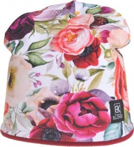 Detská zimná čapica Blonki kvety č.2