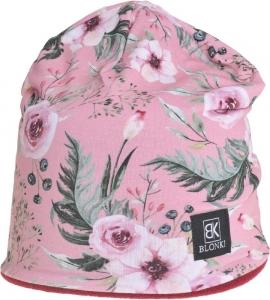 Detská zimná čapica Blonki kvety č.4