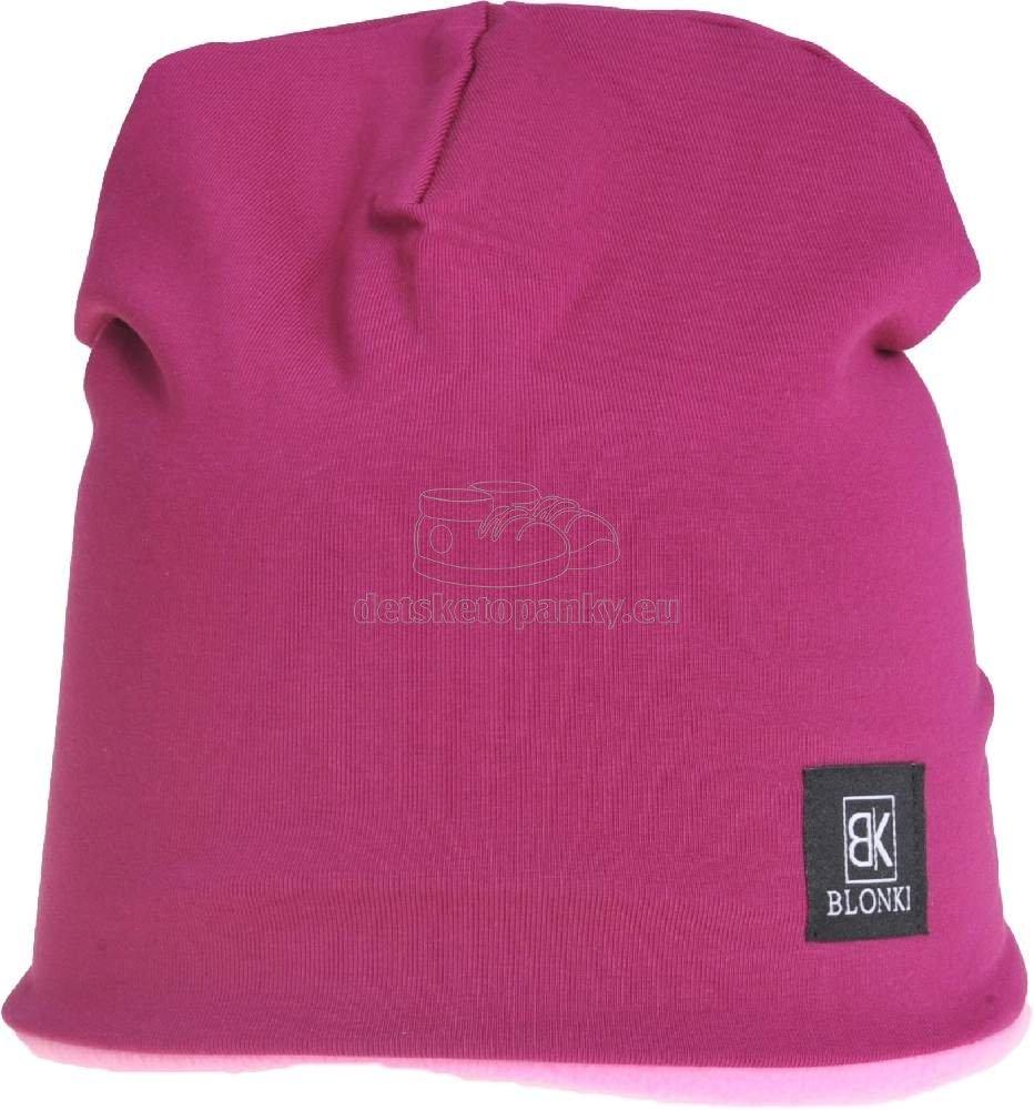 Detská zimná čapica Blonki fialová č.15