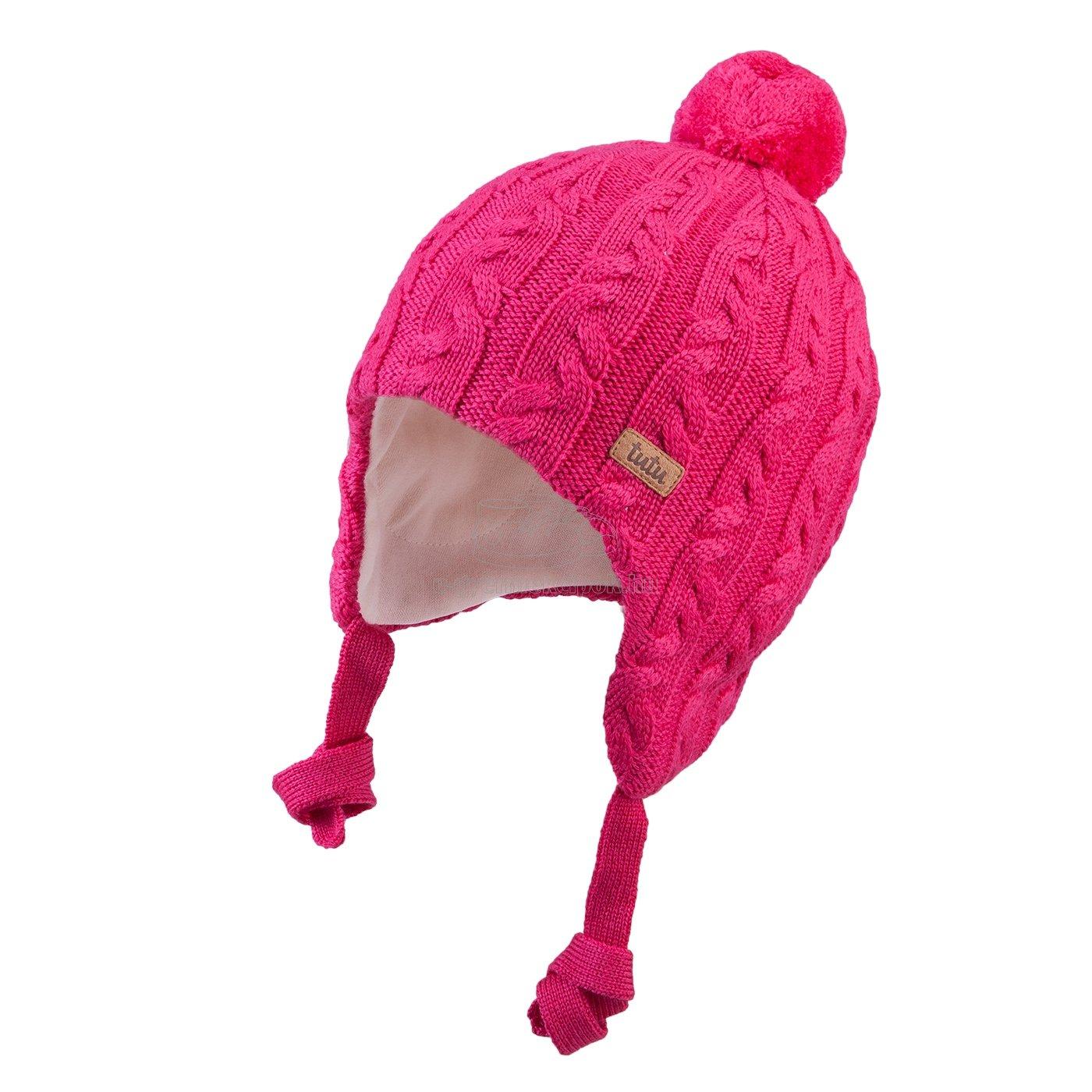 Téli gyerek sapka TUTU 3-005163 s.pink