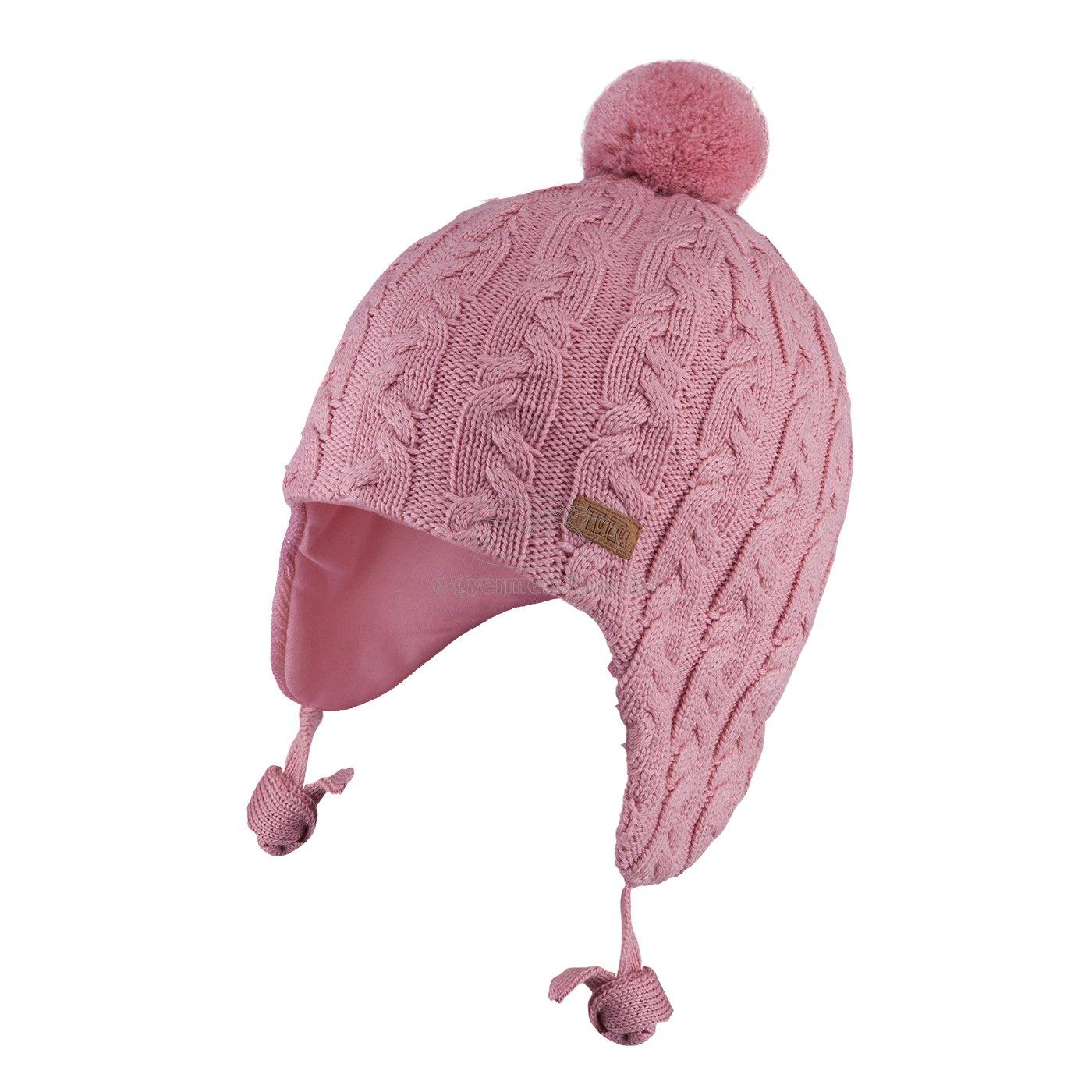 Téli gyerek sapka TUTU 3-005163 pink