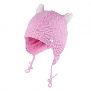 Detská zimná čapica TUTU 3-005139 lt.pink