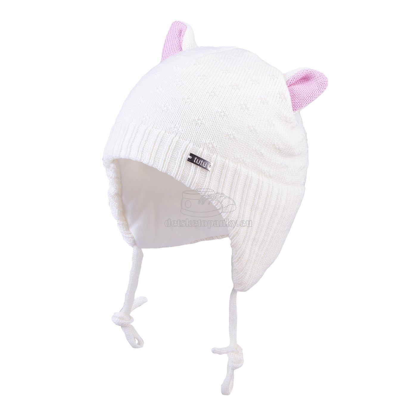 Detská zimná čapica TUTU 3-005139 white