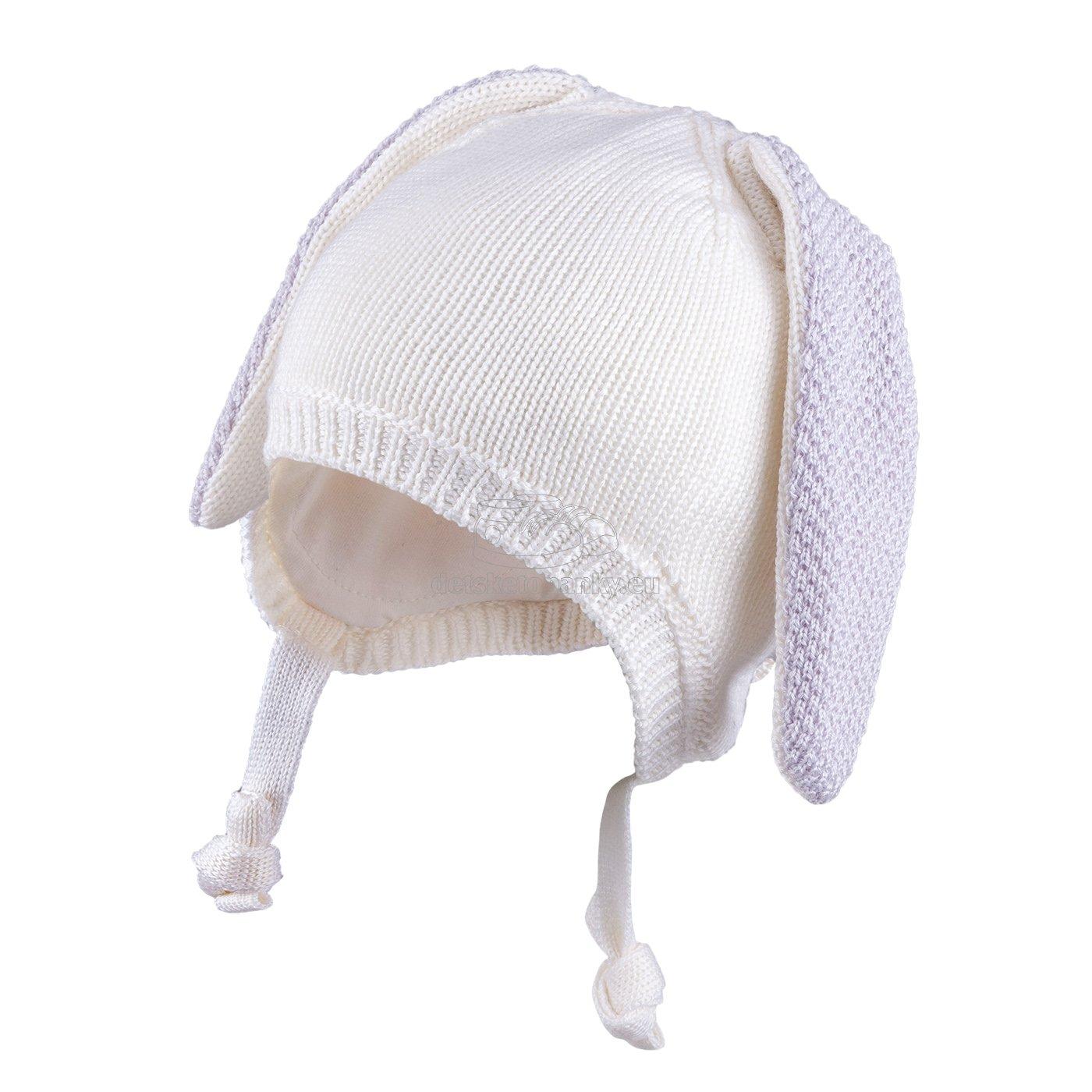 Detská zimná čapica TUTU 3-005123 ecru