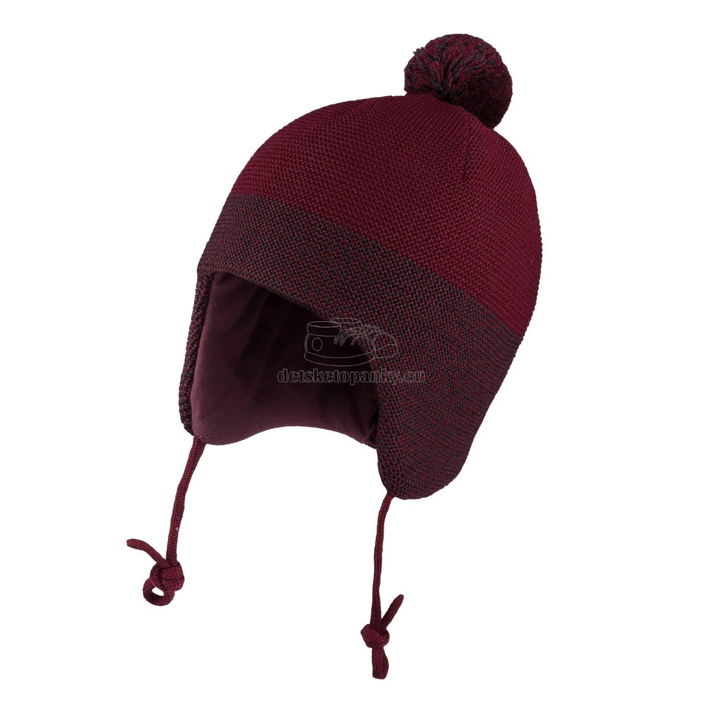 Detská zimná čapica TUTU 3-005176 claret