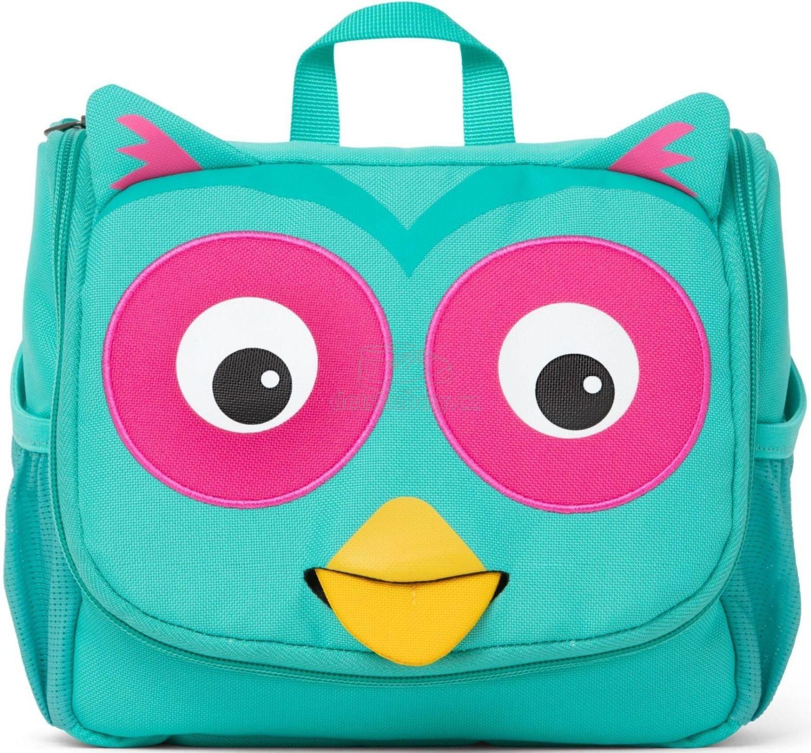 Gyerek kozmetikai táska Affenzahn Washbag - Olivia Owl - turquoise