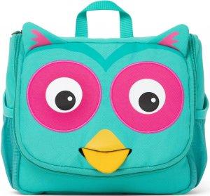 Detská kozmetická taštička Affenzahn Washbag - Olivia Owl - turquoise