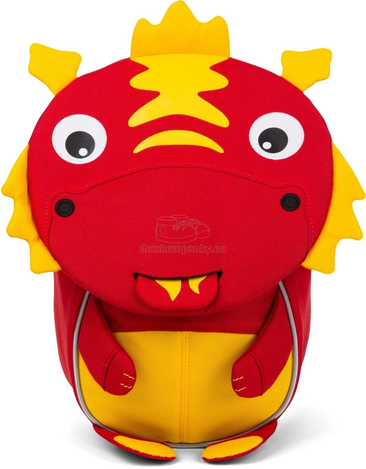 Batôžtek pre nejmenších Affenzahn Dario Dragon small - red