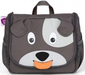 Detská kozmetická taštička Affenzahn Washbag Dog David - grey