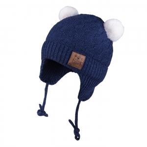 Detská zimná čapica TUTU 3-005185 n.blue