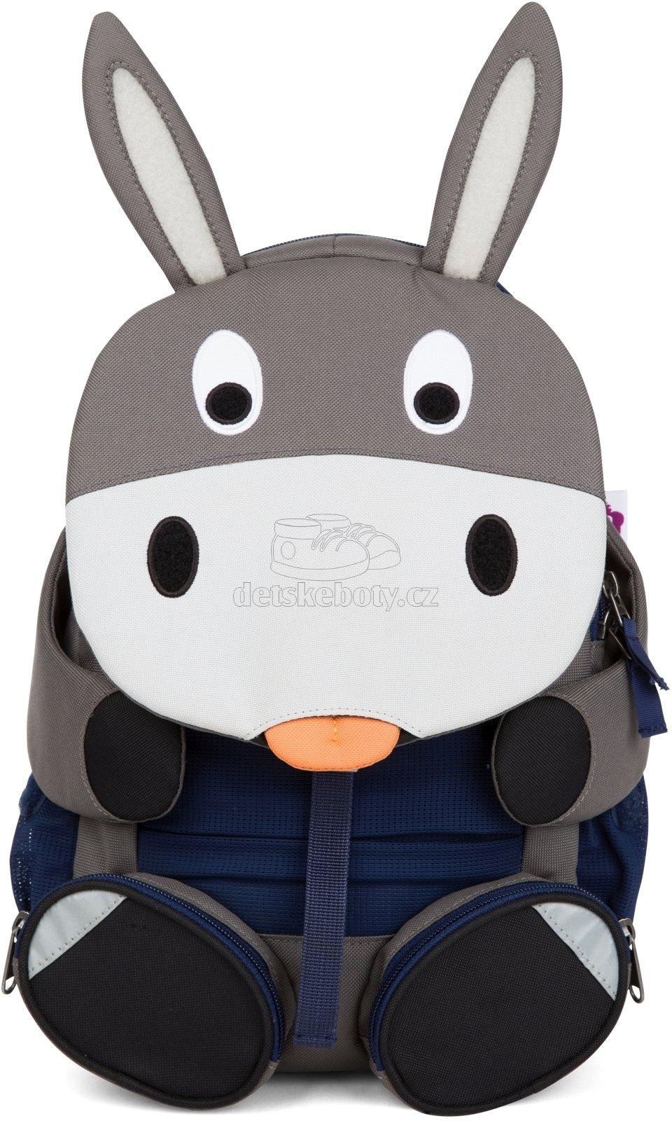 Detský batoh do škôlky Affenzahn Don Donkey large - grey