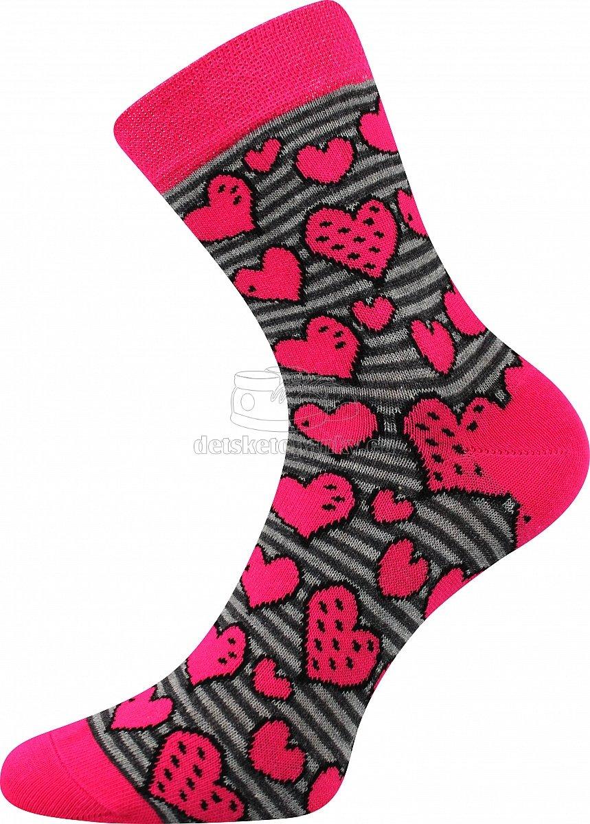 Detské ponožky Boma 057-21-43 srdce