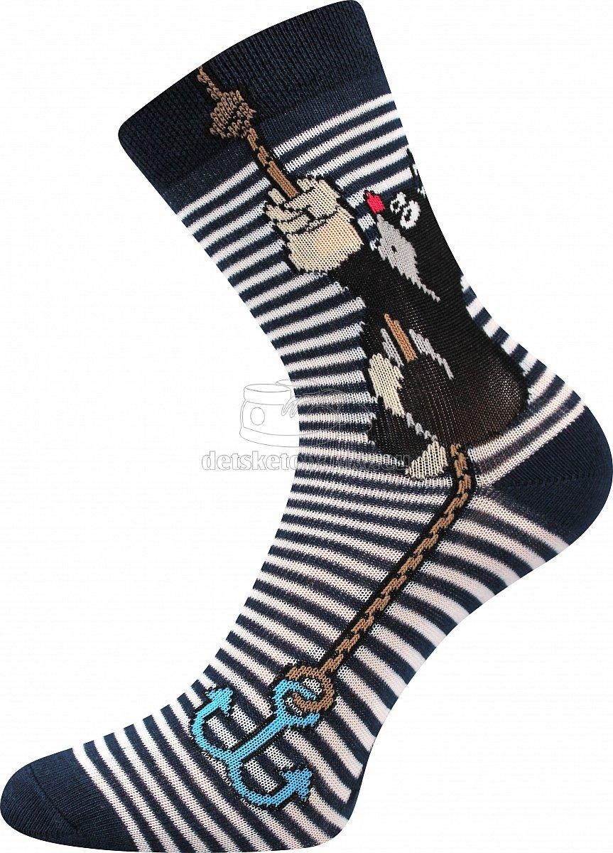 Detské ponožky Boma Krtko kotva/modrá