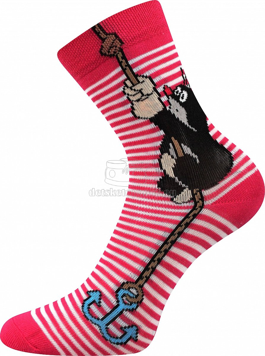 Detské ponožky Boma krtko kotva/magenta