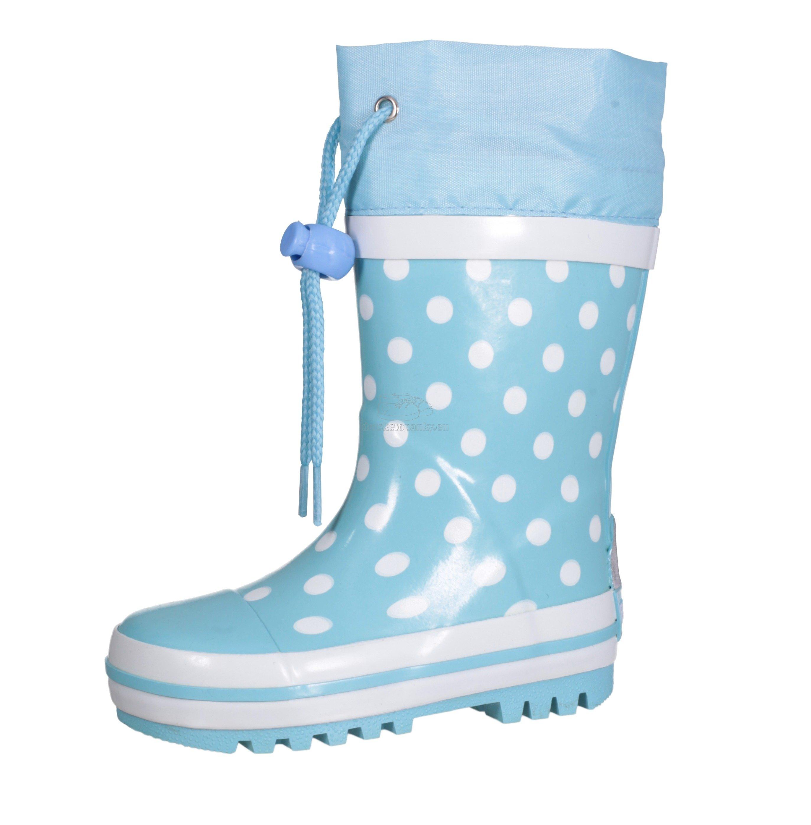 Detské gumáčky Playshoes 181767 dots tyrkysová