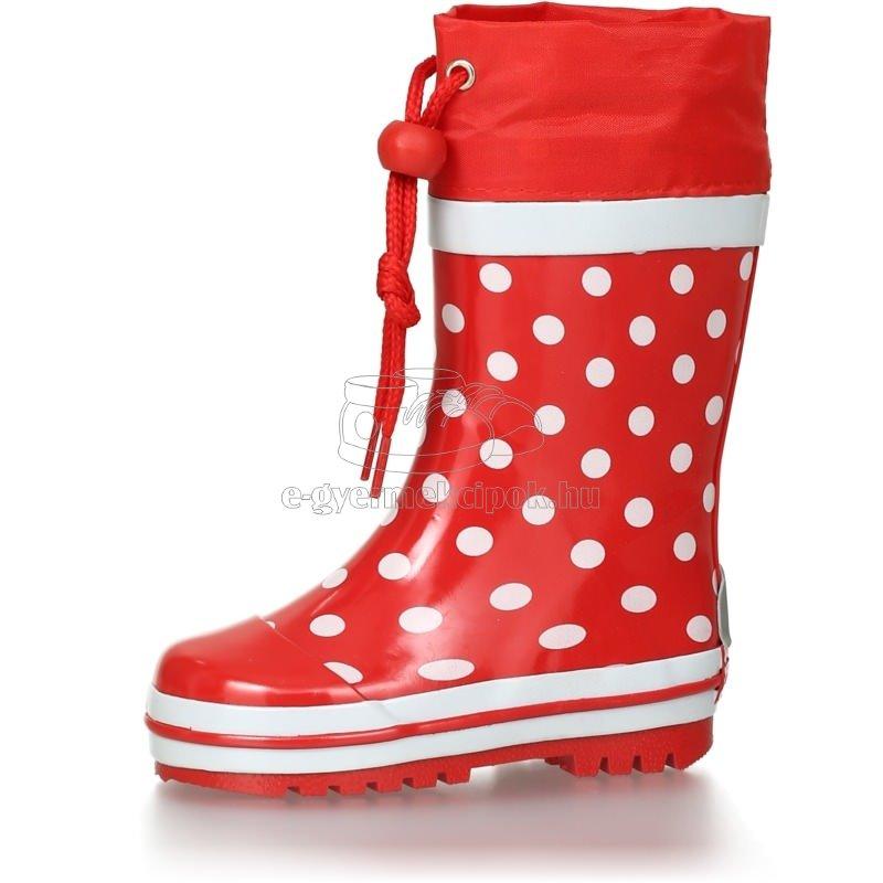 Gyerek gumicsizma Playshoes 181767 dots piros