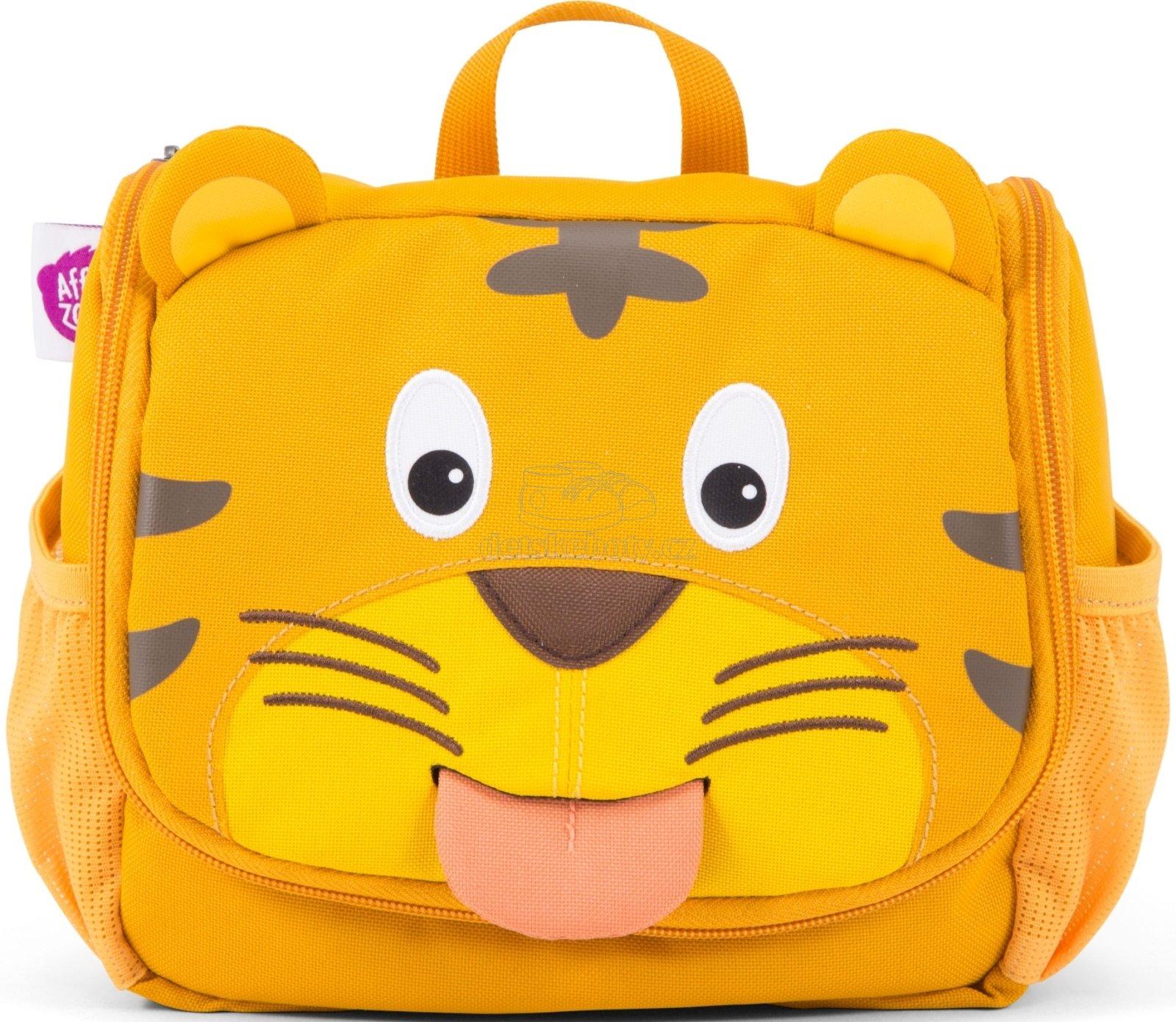 Detská kozmetická taštička Affenzahn Washbag Timmy Tiger - yellow