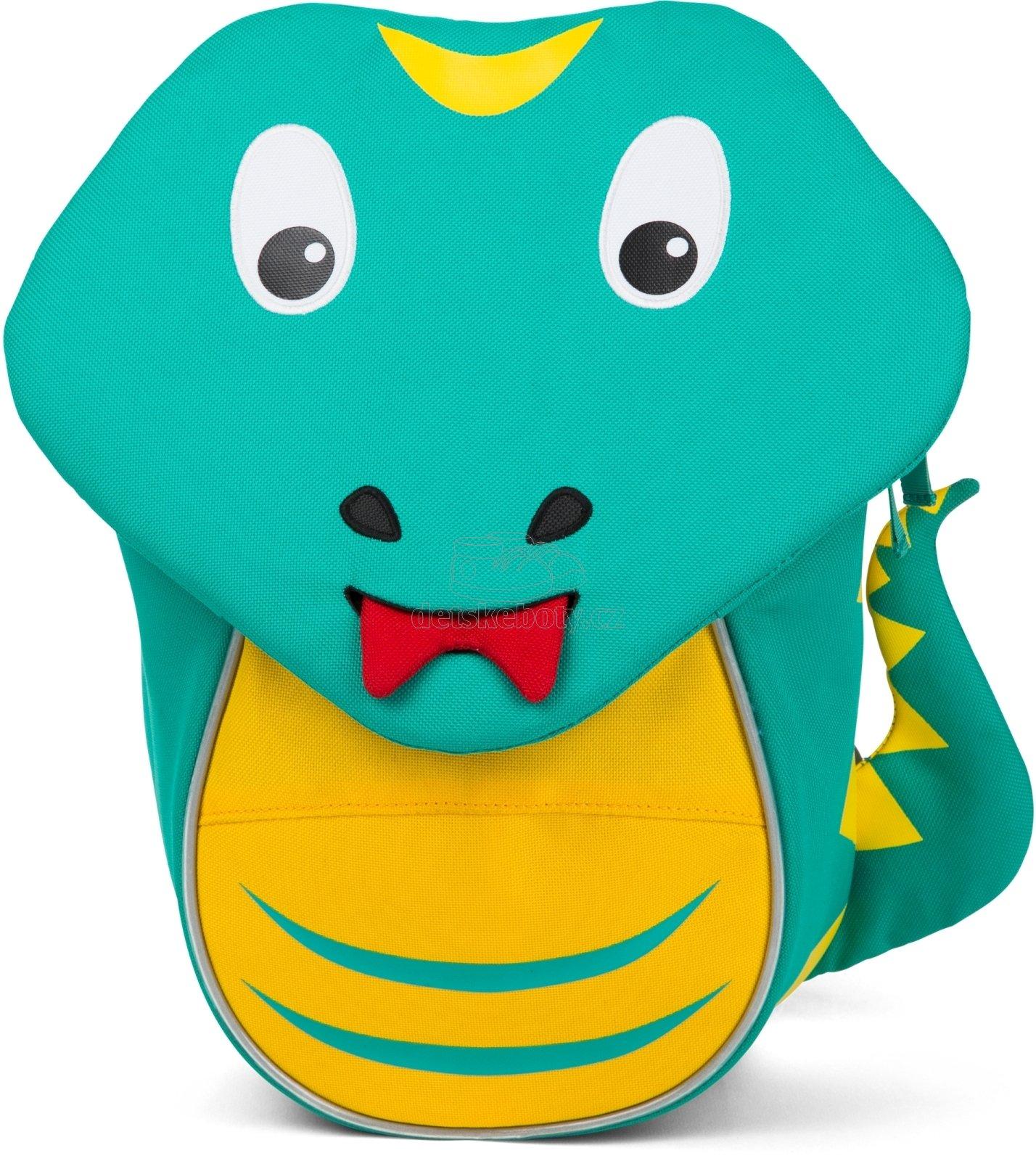 Batůžek pro nejmenší Affenzahn Samuel Snake small - turquoise
