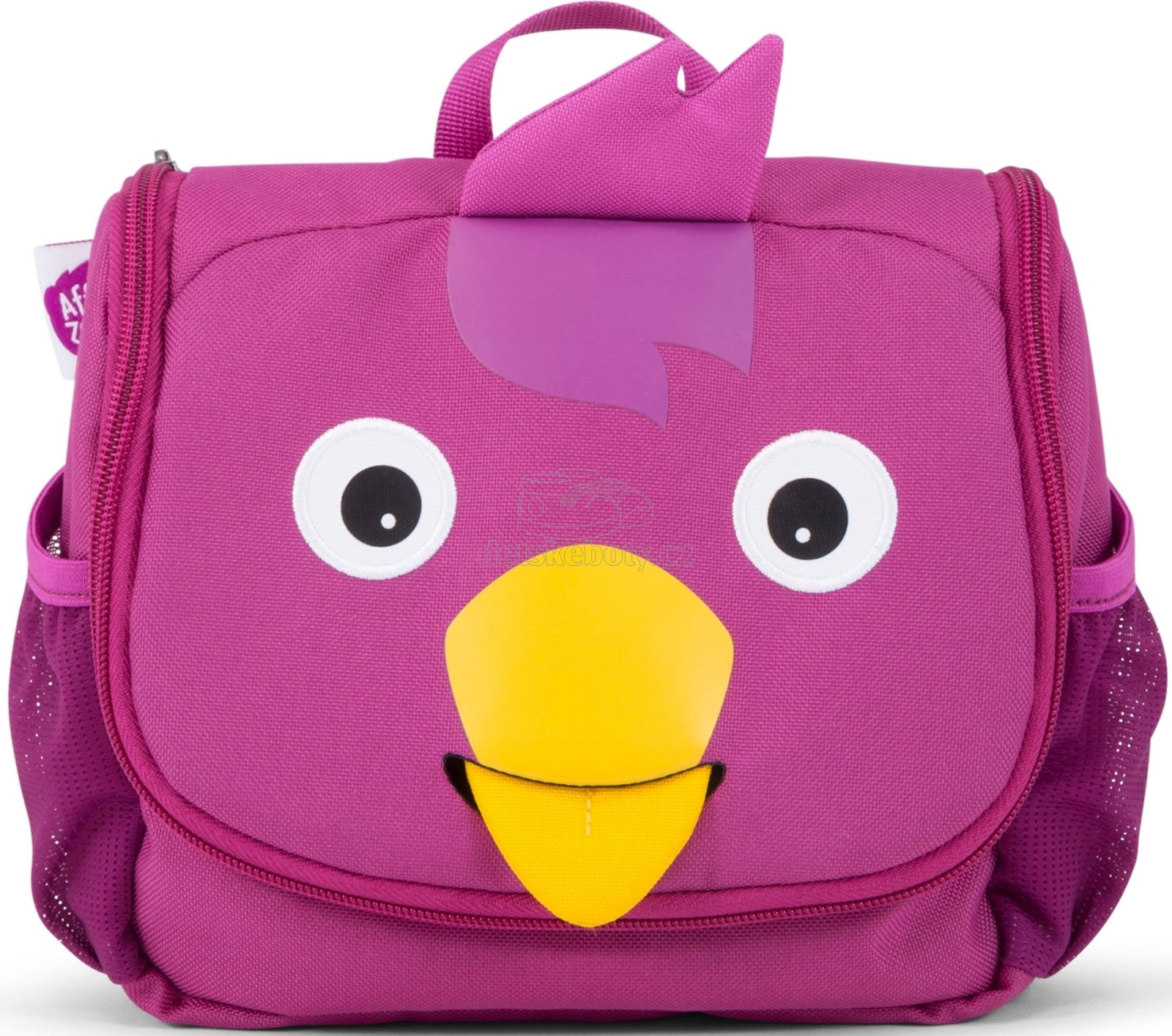 Gyerek kozmetikai táska Affenzahn Washbag Bella Bird - purple