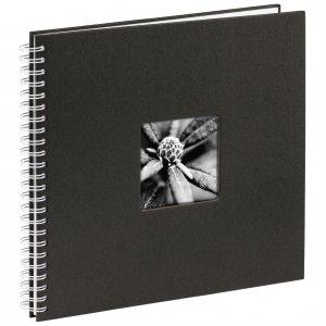 Hama album klasický špirálový FINE ART 36x32 cm, 50 strán, čierna, biele listy