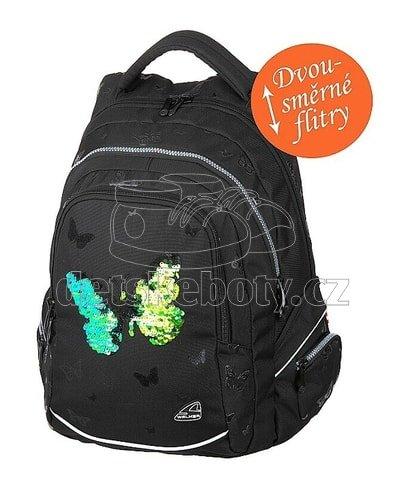 Diák hátizsák FAME Sparkling Butterfly B-42033-080