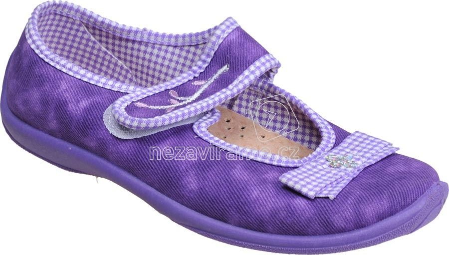 Detské topánky na doma MB 788 fialová