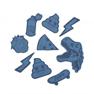 Reflexní samolepky StickyRicky coocazoo, modré